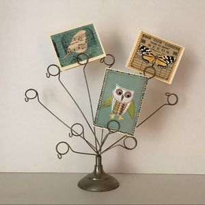 Vintage boho wire metal photo holder